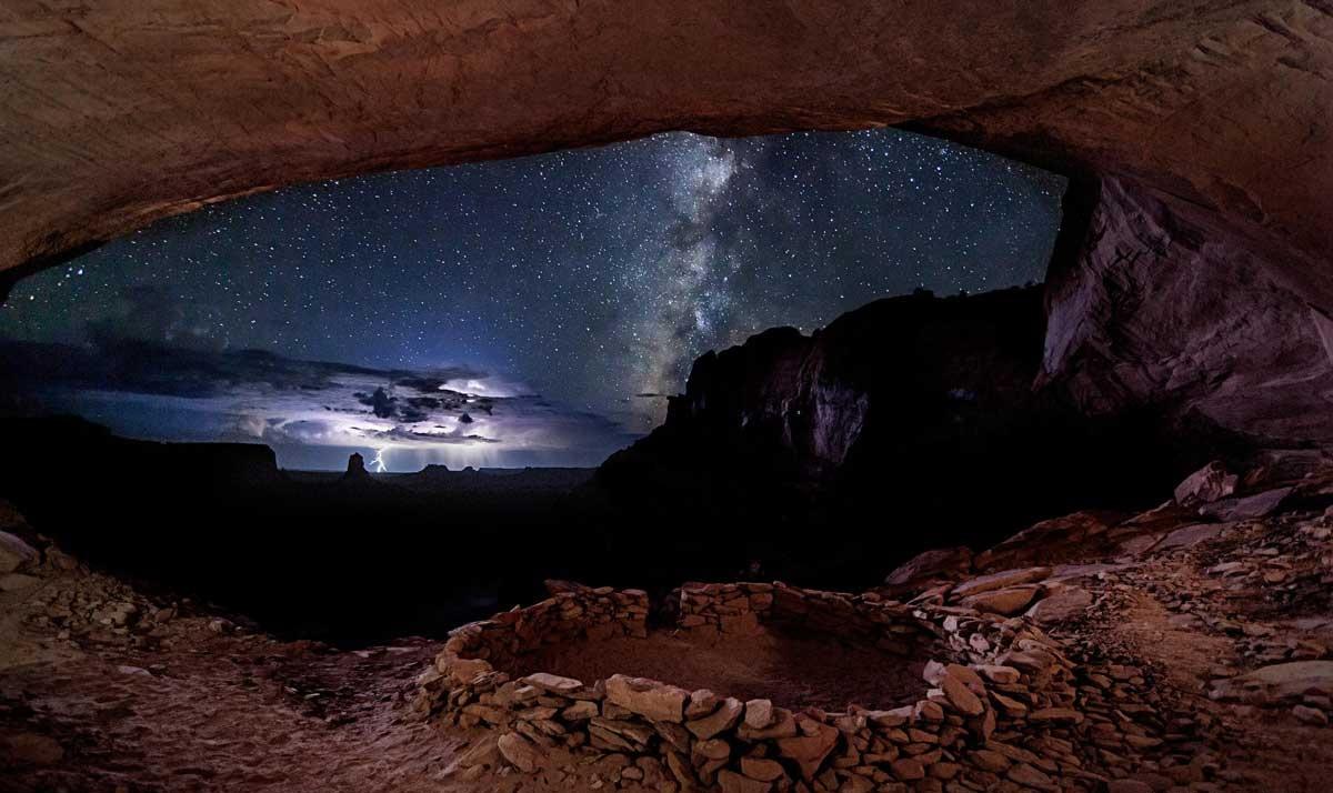 False Kiva in Canyonlands, Utah