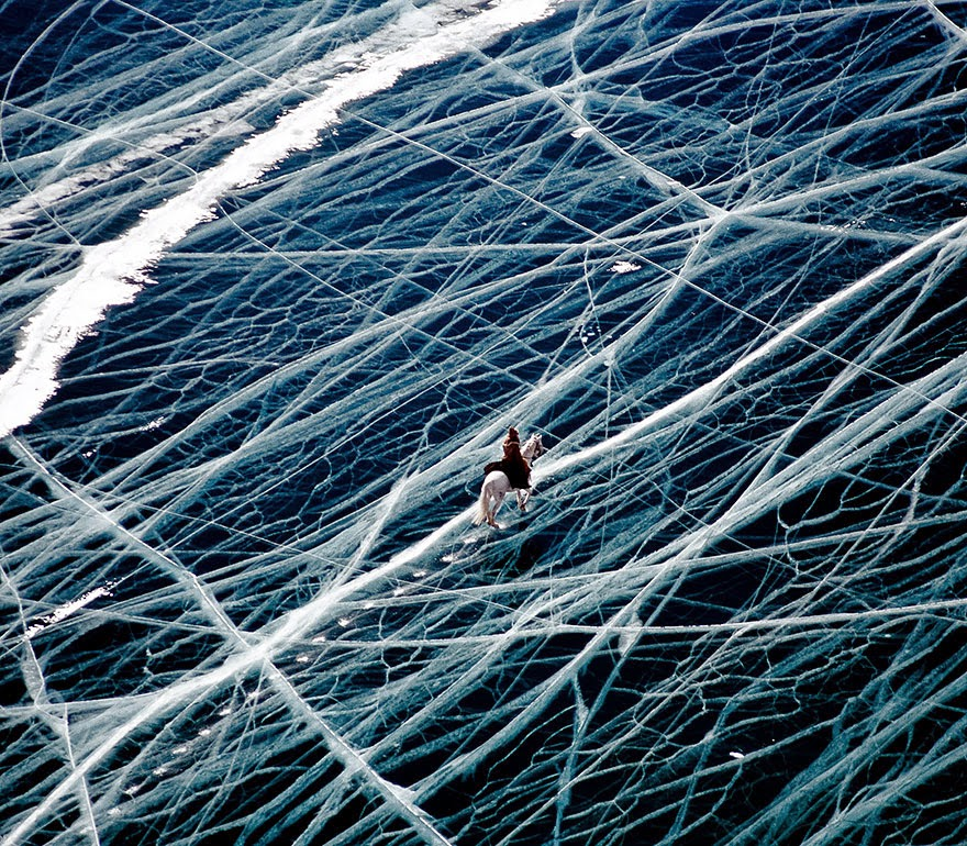 Ice Rider In Siberia, Russia