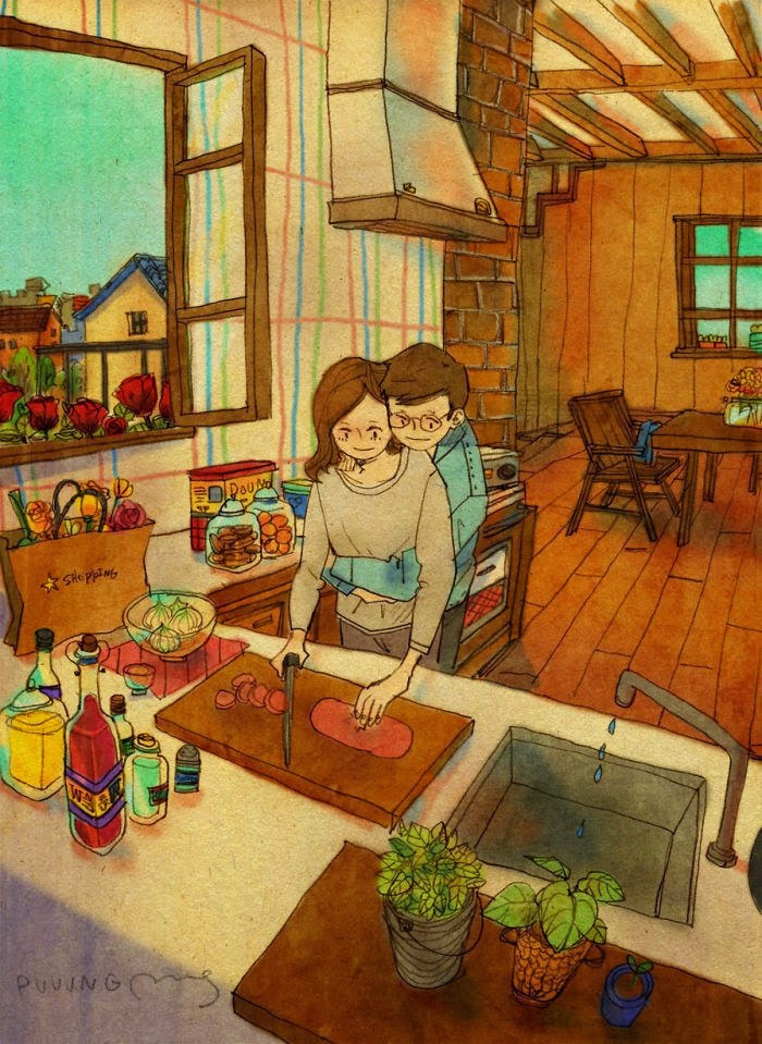 Korean Artist Beautifully Captures What Real Love Truly Looks Like (2)