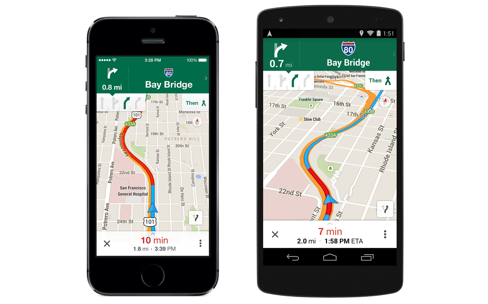 google maps ios and android