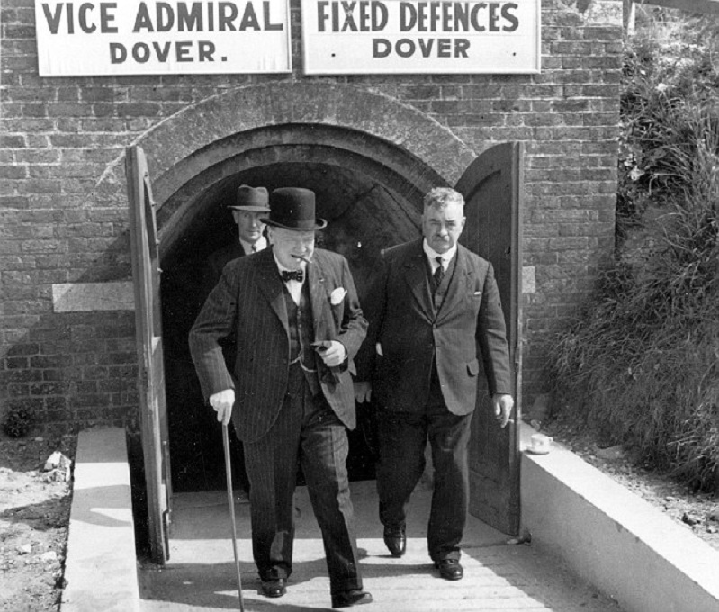 Picture   Paul Webb   Winstion Churchill at the operation Dynamo HQ during the war  Operation Dynamo Exhibition Dover Castle