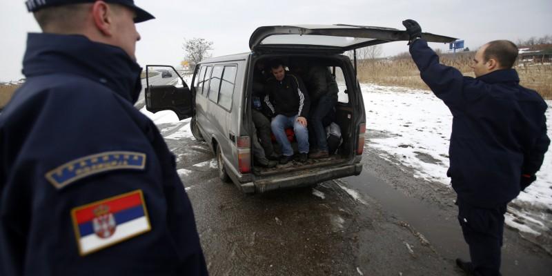 granica srbija migranti