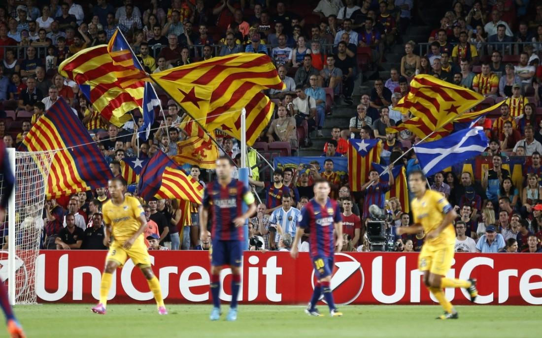 barcelona-catalan-flags