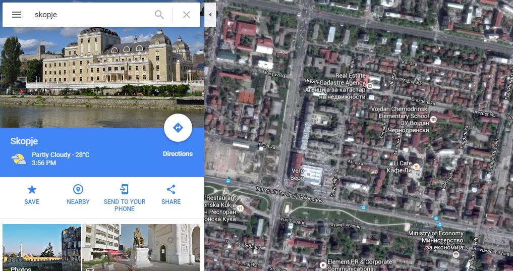 google maps satelite