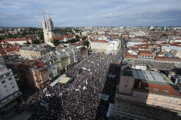 hrvatska protest