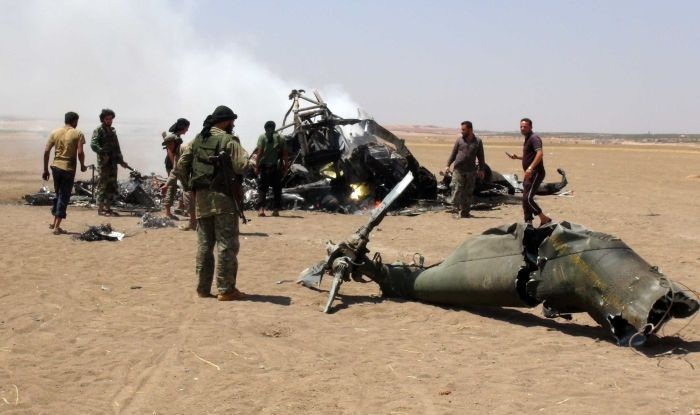 siriski buntovnici helikopter