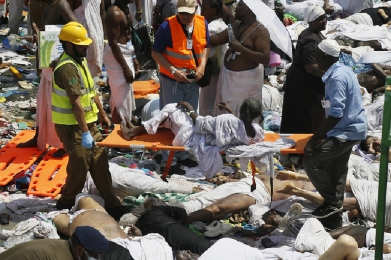 Over 450 dead 700 wounded in stampede duuring Hajj in Mecca
