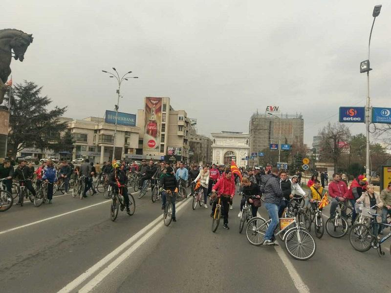 protest vmro velosipedi