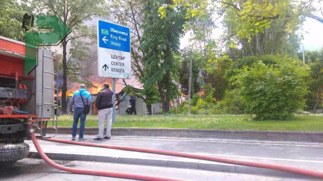 Голем пожар кај средното училиште  Здравко Цветковски