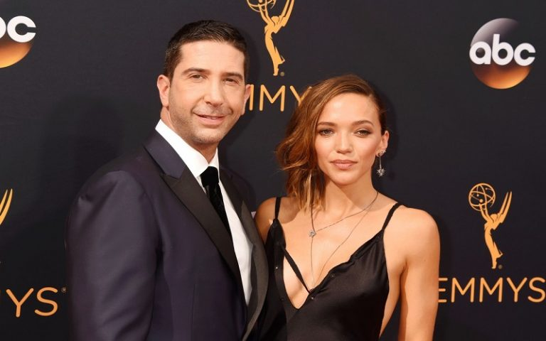 LOS ANGELES, CA - SEPTEMBER 18: Actor David Schwimmer and wife/artist/photographer Zoe Buckman arrive at the 68th Annual Primetime Emmy Awards at Microsoft Theater on September 18, 2016 in Los Angeles, California., Image: 300790614, License: Rights-managed, Restrictions: , Model Release: no, Credit line: Profimedia, Capital pictures