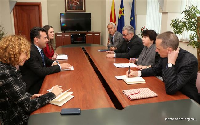 Заев на средба со амбасадорите Алтхаузер  Гарет  Стафансон и Пломп
