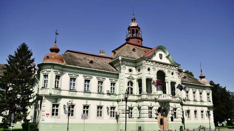 City hall building Zrenjanin Serbia. Located in one of the city's main squares.
