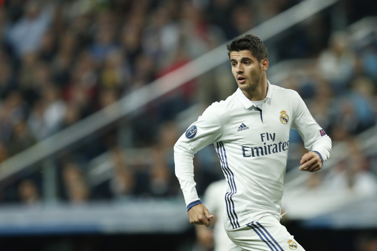 Alvaro Morata of Real Madrid during the UEFA Champions League group F match between Real Madrid and Sporting Club de Portugal on September 14, 2016 at the Santiago Bernabeu stadium in Madrid, Spain.(Photo by VI Images via Getty Images)