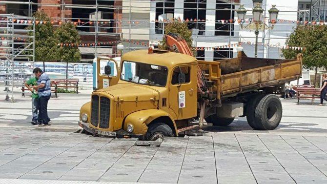 kamion plostad