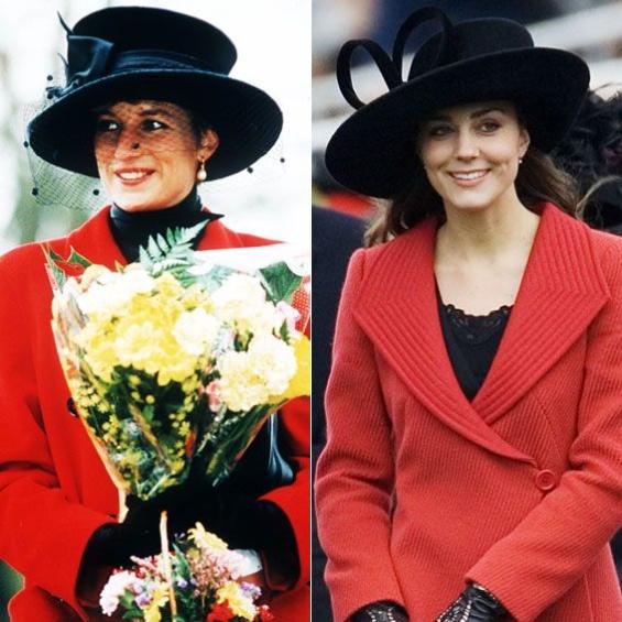 Модните моменти на војвоткта Кетрин кои се  копии  на стилот на принцезата Дијана