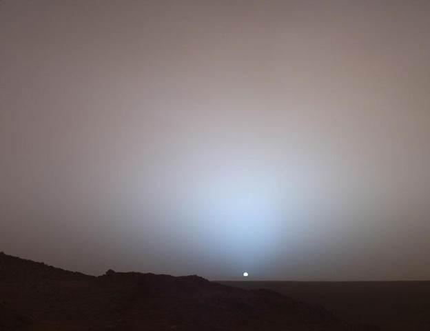 Зајдисонце на Марс