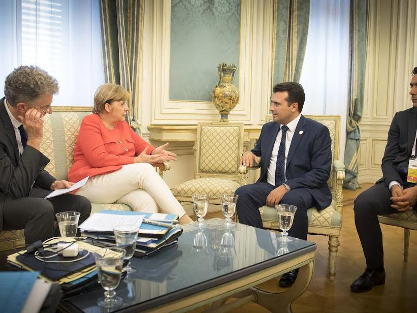 bilateral meeting of Mrs. Merkel and Mr. Zaev.